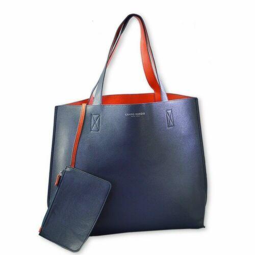 Borsa donna Shopper Campo Marzio reversibile DOUBLE TOTE BAG ecopelle 51x36x14