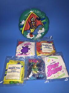 Vintage-1989-Mcdonalds-Happy-Meal-Summer-Beach-Toys-Set