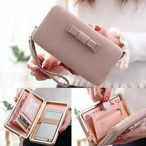 Ladies-Luxury-Wallet-Handbag-Cover-Case-For-iPhone-X-8-7-Plus-Samsung-Galaxy-S9