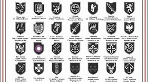 Details about WAFFEN SS PANZER DIVISION HISTORICAL REFERENCE CHART 260MM X  210MM WATERPROOF