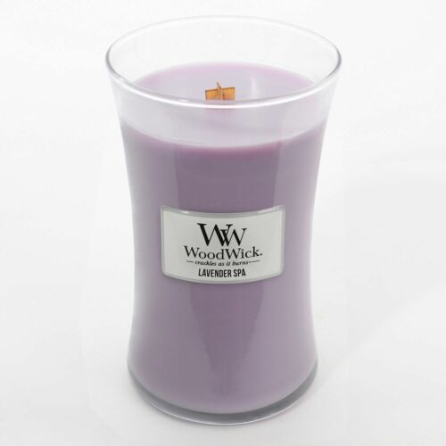Lavender Spa **FREE DELIVERY** Woodwick Large 17cm Soy Wax Candle