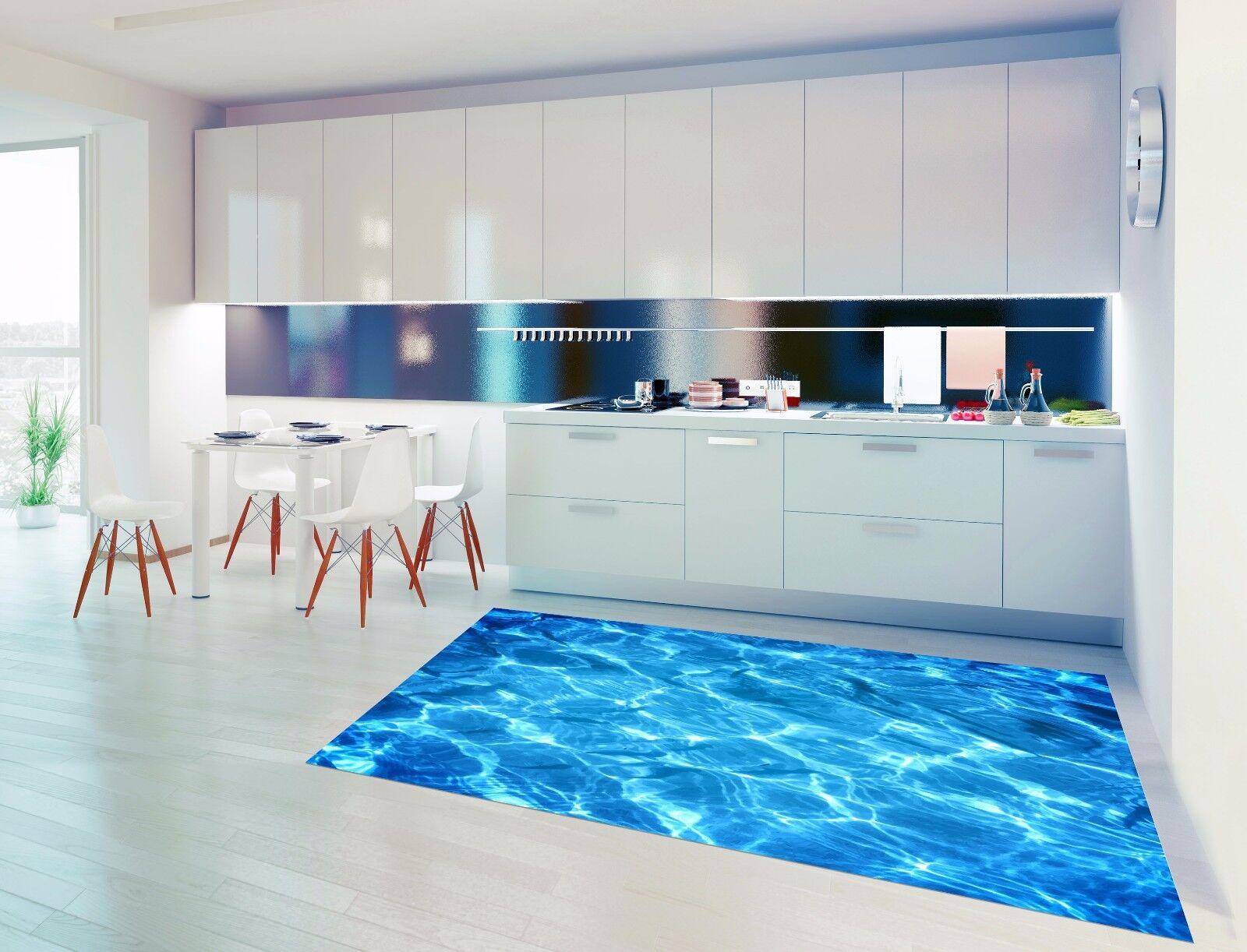 3D Blau River Ripple 788 Kitchen Mat Floor Murals Wall Print Wall Deco UK Carly