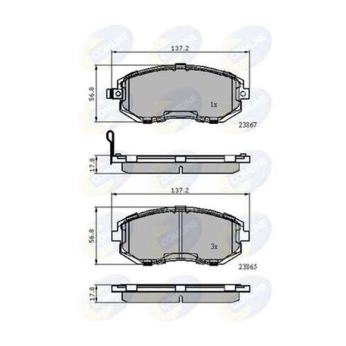 Fits Subaru XV Genuine Comline Front Brake Pads