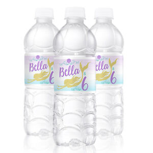 66d0600456 Details about 10 Mermaid Dive Theme Birthday Party Favors Personalized  Water Bottle Labels