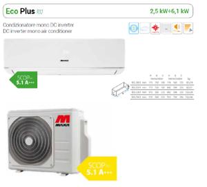 SCOP = 5.1 A+++ CLIMATIZZATORE CONDIZIONATORE INVERTER MONO MAXA 12000 BTU