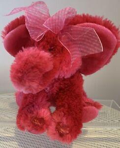 RUSS-Teddy-Bear-Emeline-Red-Elephant-26cm-Long-10-Love-Hearts-New-Condition