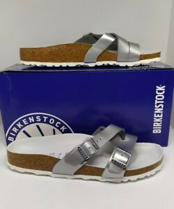 SALE-Authentic-YAO-Birko-Flor-BIRKENSTOCK-Silver-in-Size-39-only
