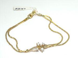 Amerik-Damen-Armkette-vergoldet-mit-Zirkonia