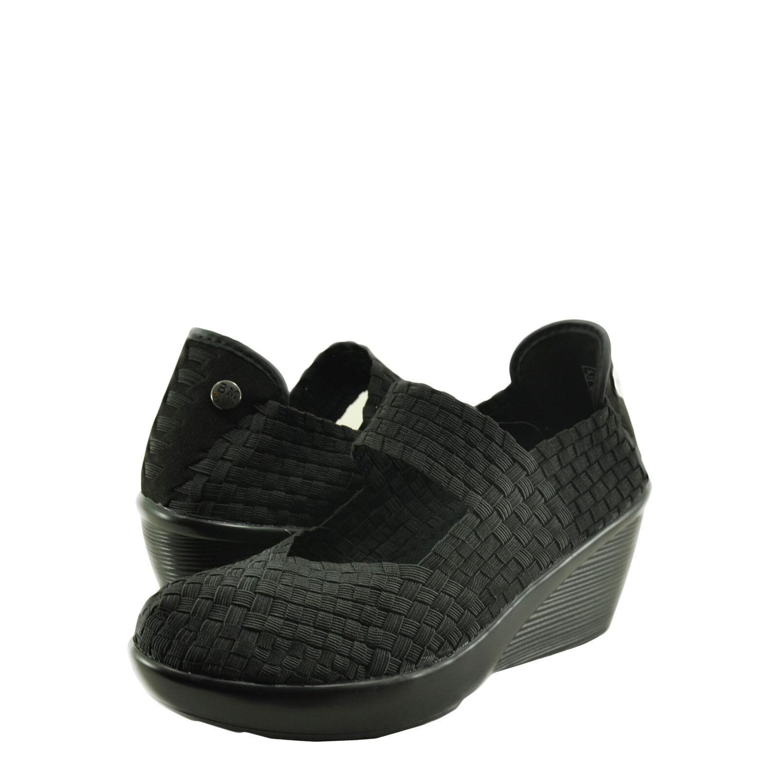 Wouomo scarpe Bernie Mev. Fresh Lulia Handwoven Casual Wedges nero New