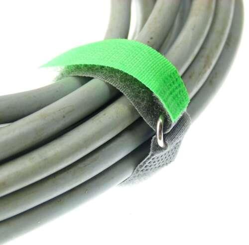 50 Klettbänder Kabelklett 160 x 16mm blau Kabel Klett Band Kabelbinder Klettband