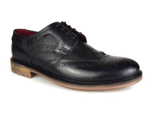 Silver Street London Oxford Black Leather Brogues UK 7-12 RRP £50 Free UK P/&P!