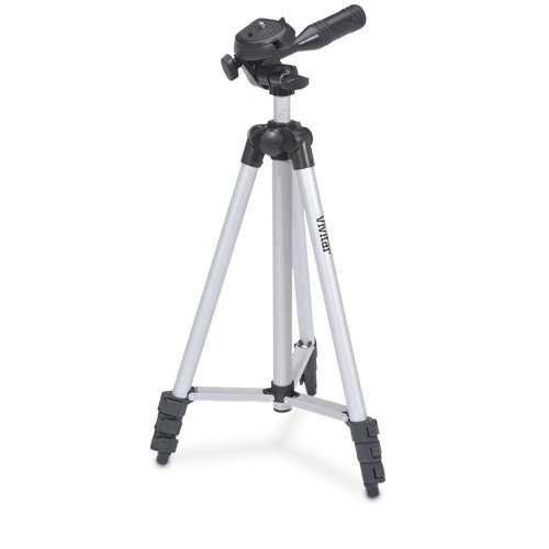 "Photo//Video Light Vivitar 50/"" Tripod with Case For Nikon D3500"