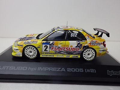 SUBARU FUJITSUBO hpi IMPREZA  2005  #2  Yellow  1:43  hpi-racing   NEW