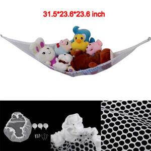 Jumbo-Hammock-Toy-Net-Organizer-Corner-Stuffed-Animals-Kids-Hanging-Bath-T-JR