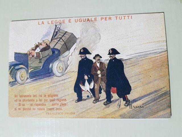 La legge è uguale per tutti cartolina  da GIORNALE AVANTI illustratore SCALARINI