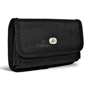 For-Samsung-Galaxy-A10-A20-A30-A50-Horizontal-Nylon-Canvas-Pouch-Holster-Black
