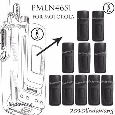 10x PMLN4651A Belt Clip for Motorola XPR6550 XPR6580 XPR7550 XPR7580 Radio