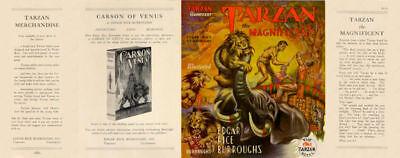 Ausdrucksvoll Edgar Rice Burroughs umschlag GläNzende OberfläChe Tarzan The Magnificent Faksimile Dust