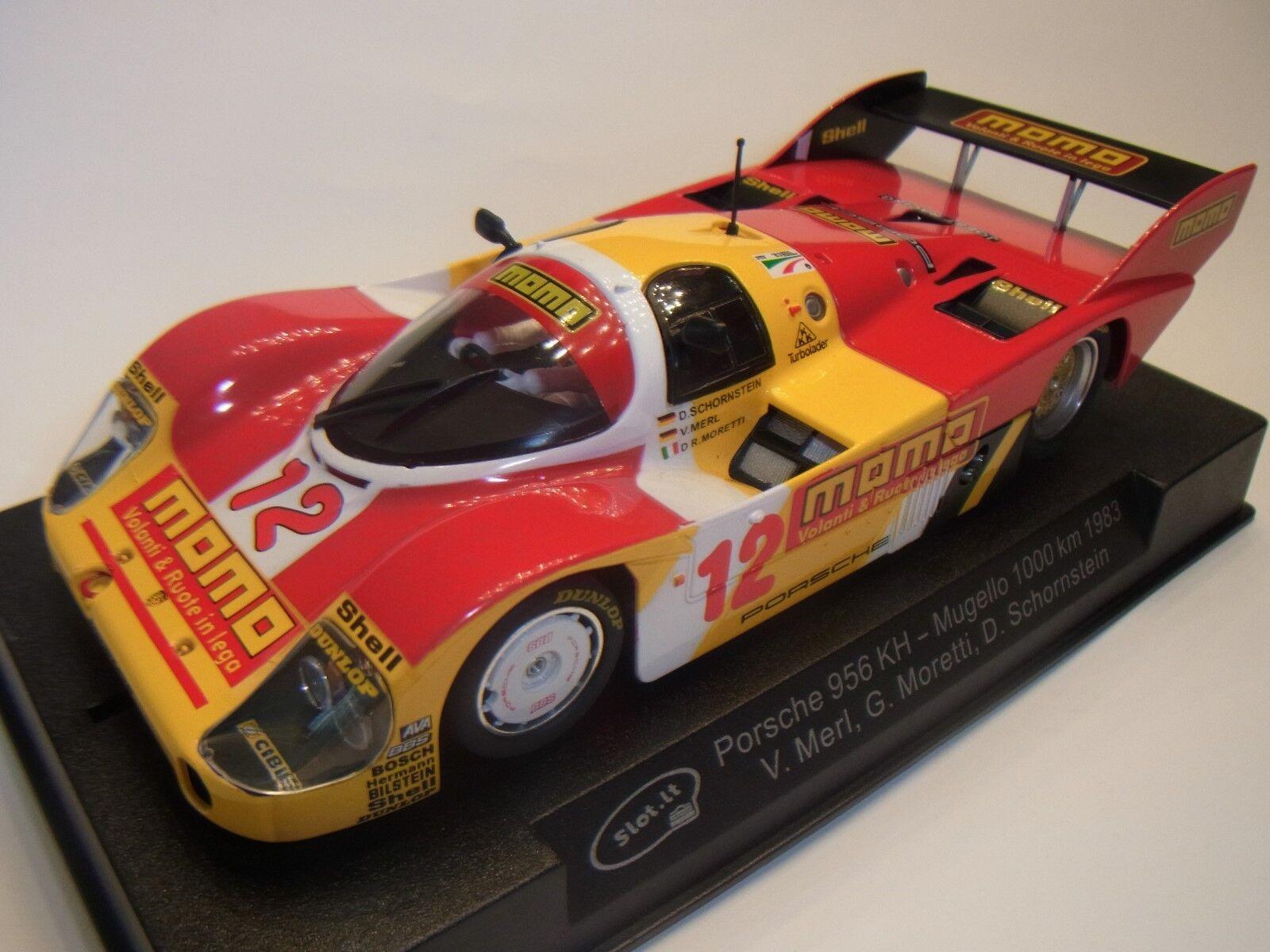 Slot  PORSCHE 956 KH MUGELLO 1000KM 1983 sica09f Pista per auto 1 3 2 SLOTCAR