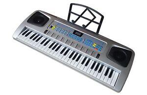Fun-Keyboard-54-Tasten-Lernfunktion-Notenhalter-Netzteil-100-Sounds-Rythmen
