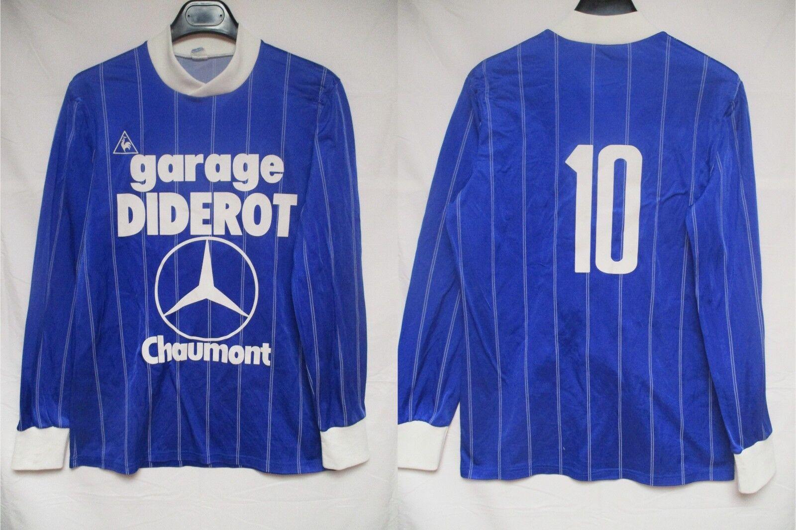 Maillot CHAUMONT 10 vintage LE COQ SPORTIF 1986 Division 2 manches longues shirt