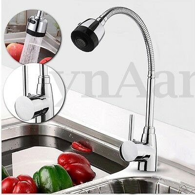 Flexible 360° Zinc Alloy Hot & Cold Kitchen Pull Out Spray Sink Mixer Tap Faucet