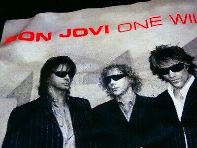 Bon Jovi One Wild Night World Tour Blue Tie Dye T Shirt New Official Band NOS
