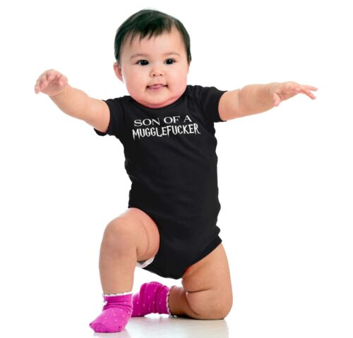 Son Mugglefucker Shirt Cool Gift Wizard Witch Romper Bodysuit