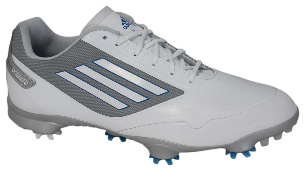 Adidas Performance AdiZero ClimaProof Mens Golf Shoes White Grey Q46801 D104
