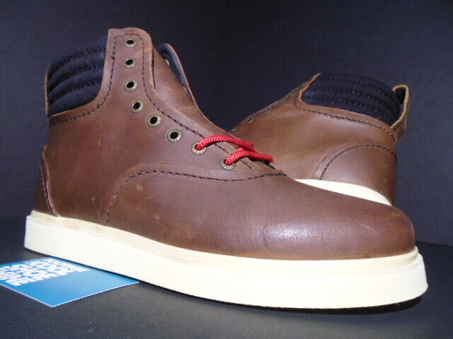 SUPRA HENRY stivali Marronee FG LEATHER CREAM OFF bianca bianca bianca nero rosso S03007 NEW 9.5 8f3641