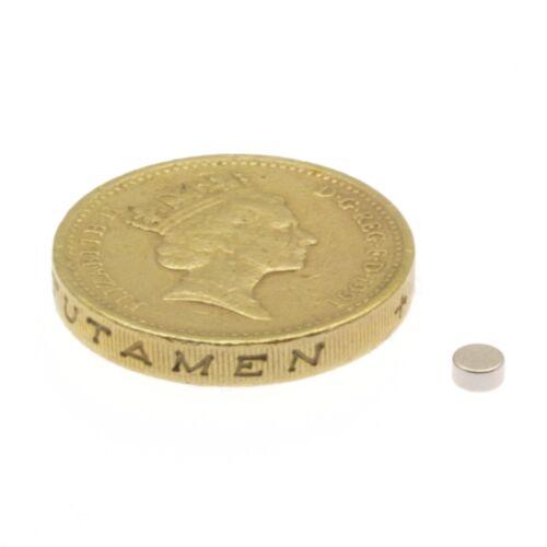 "3mm x 1.5mm Small Neodymium Disc Magnets 1//8/"" x 1//16/"" Rare Earth Magnet 50 100"