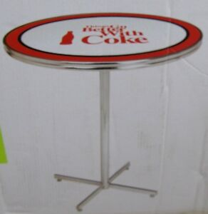 Coca Cola Classic Bar Height Table New Ebay