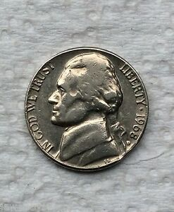 Mint Error 1968-D Jefferson Nickel Clipped Planchet Error near date