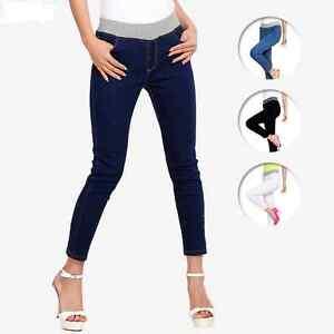 dcb6b8a769f97 Lady Casual Stretch Plus size Slim Skinny Denim Jeans Pants Jeans ...