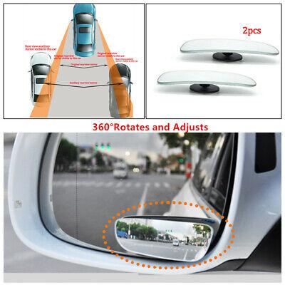 1X Car Van Round Blind Spot Mirrors Adjustable Transit Wing Mirror Glass Silver