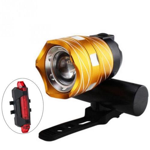 Phare Vélo avant arrière XML 5000LM T6 LED lumière Lampe bicyclette USB PB