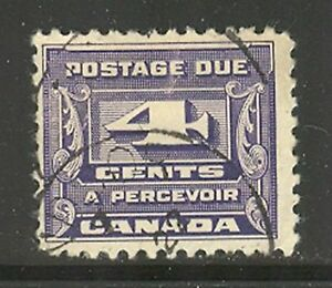 Canada #J13, 1933 4c Postage Due - Third Postage Due Series, Cancelled / Used