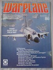 Warplane magazine Issue 86 Saab JA 37 Jaktviggen Cutaway drawing & Poster