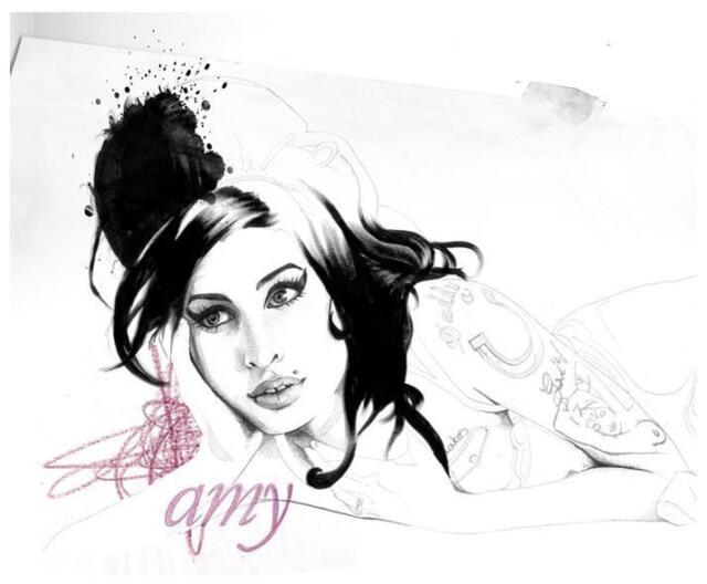 Amy Winehouse # 10 - 8 x 10 Tee Shirt Iron On Transfer