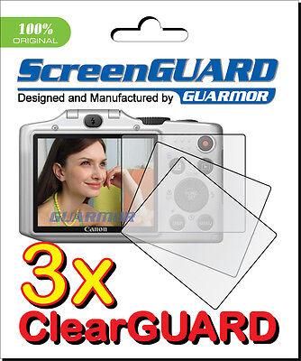 3x Lcd Clear Screen Protector Protector Funda Film Canon Powershot G1 X G1x Mark Ii