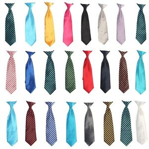 25-Colors-Clip-On-Neck-Tie-For-Toddler-2T-4T-Kids-4-7-Boys-8-16-Satin-Tie