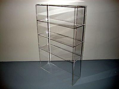 "Acrylic Lucite Countertop Display Case ShowCase Box Cabinet 12"" x 4"" x 19"""