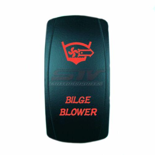 12V Waterproof ON//OFF BILGE BLOWER Rocker Switch RED for Marine Boat Car