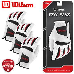 Wilson-Feel-Plus-Glove-Synthetic-Leather-Men-039-s-White-MULTI-BUY-DEAL