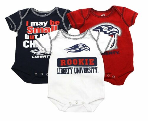 3 Piece Creeper Apparel Set Outerstuff Liberty University Eagles Baby Clothing