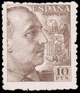 Spain-1940-10p-ITALIAN-BROWN-WITHOUT-IMPRINT-MNH-705-CV-330-00