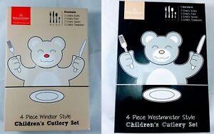 Grunwerg-acier-inoxydable-4-pieces-children-039-s-kids-lot-de-couverts-fourchette-couteau-cuillere