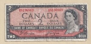 1954-2-Bank-of-Canada-Note-Beattie-Coyne-P-B-8645031-Fine