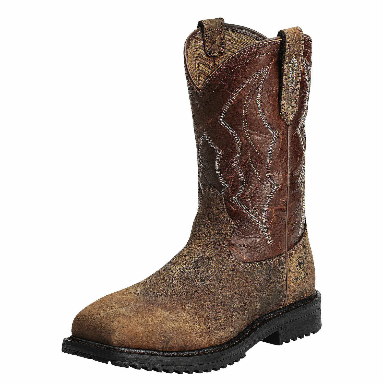 Ariat 10012930 Rigtek Safety Toe 11  Pull On EH Rated Wide Square Toe Work Boots