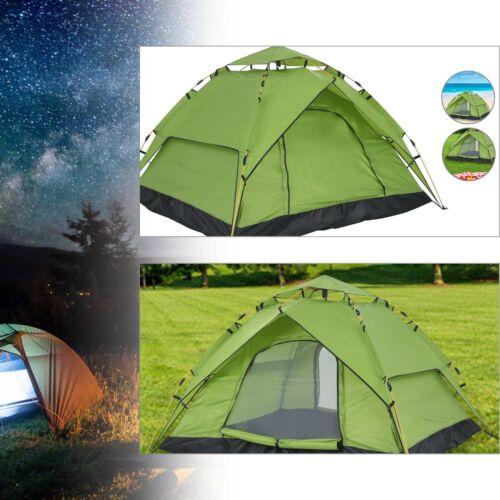 Pop-up Campingzelt Sekundenzelt 2-4Personen Wurfzelt Automatikzelt Trekkingzelt